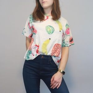 4 for $30 Boxy Crop Fruit Tee